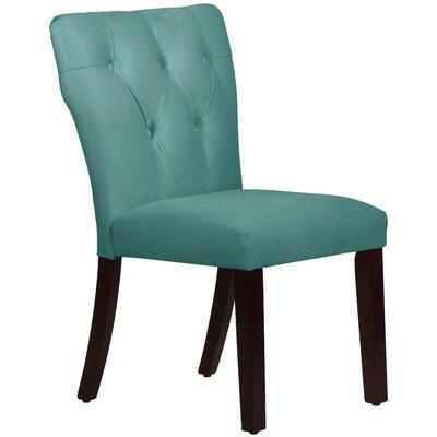 Evelina Side Chair Upholstery: Velvet Caribbean