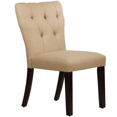 Evelina Side Chair Body Fabric: Linen Sandstone