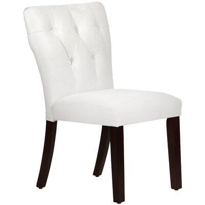 Evelina Side Chair Upholstery: Velvet White