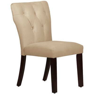 Evelina Side Chair Upholstery: Velvet Buckwheat