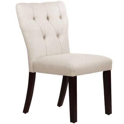 Evelina Side Chair Upholstery: Linen Talc