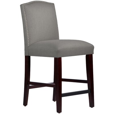 Nadia 26 Bar Stool Body Fabric: Linen Grey