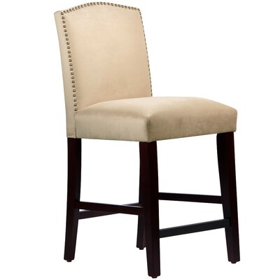 Nadia 26 Bar Stool Body Fabric: Velvet Buckwheat