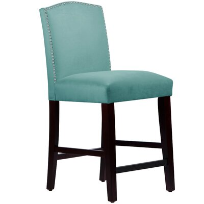 Nadia 26 Bar Stool Body Fabric: Velvet Caribbean