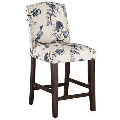 Nadia 26 Bar Stool Body Fabric: Shaana Indigo