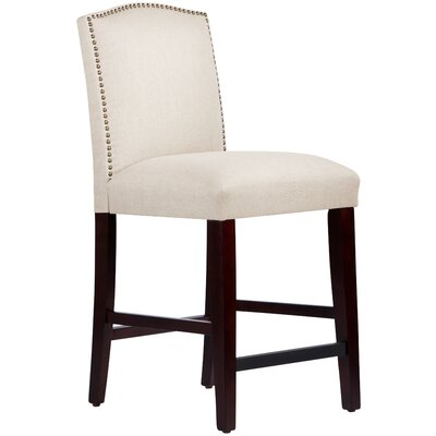 Nadia 26 Bar Stool Body Fabric: Linen Talc