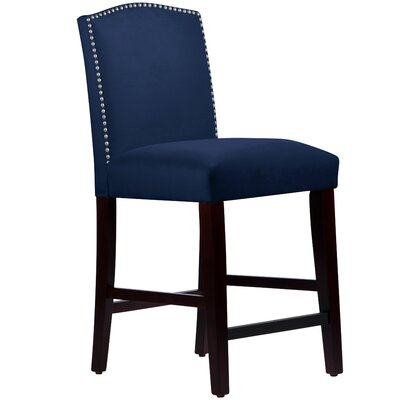 Nadia 26 Bar Stool Body Fabric: Velvet Navy