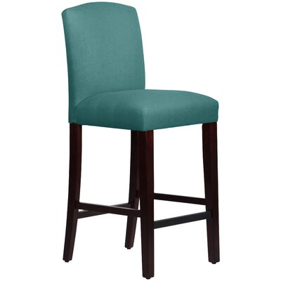 Nadia 31 Bar Stool Body Fabric: Linen Laguna