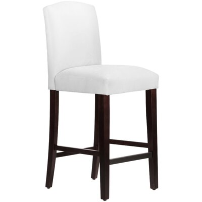 Nadia 31 Bar Stool Body Fabric: Velvet White