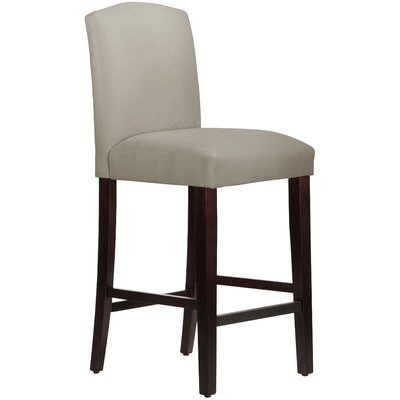 Nadia 31 Bar Stool Body Fabric: Velvet Light Grey