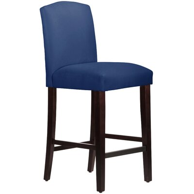 Nadia 31 Bar Stool Body Fabric: Velvet Navy