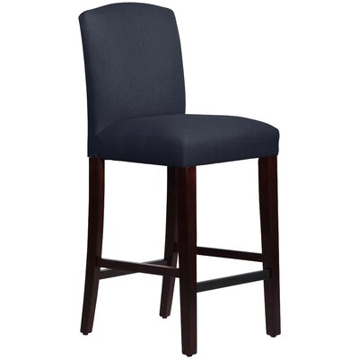 Nadia 31 Bar Stool Body Fabric: Linen Navy