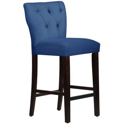 Evelina 31 Bar Stool Body Fabric: Velvet Navy