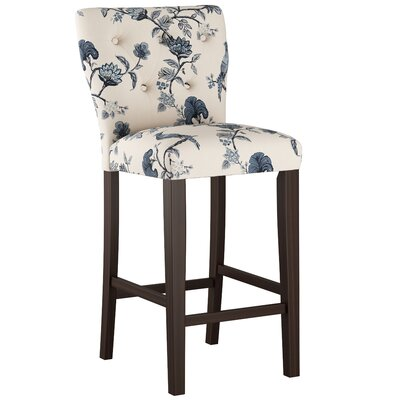 Evelina 31 Bar Stool Body Fabric: Shaana Indigo