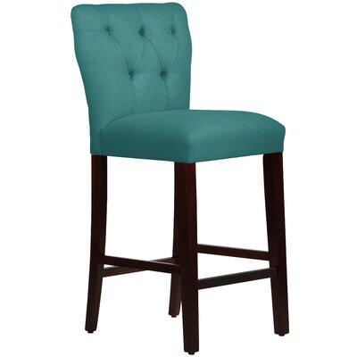 Evelina 31 Bar Stool Upholstery: Linen Laguna