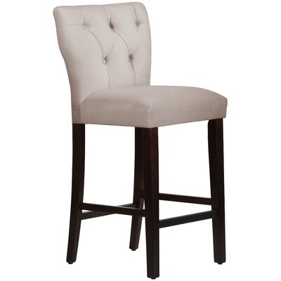 Evelina 31 Bar Stool Body Fabric: Velvet Light Grey
