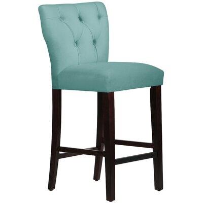 Evelina 31 Bar Stool Upholstery: Velvet Caribbean