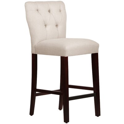 Evelina 31 Bar Stool Body Fabric: Linen Talc