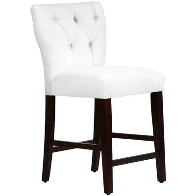 Evelina 26 Bar Stool Upholstery: Velvet White