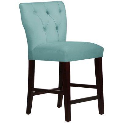 Evelina 26 Bar Stool Upholstery: Velvet Caribbean
