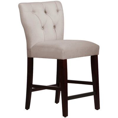 Evelina 26 Bar Stool Upholstery: Velvet Light Grey