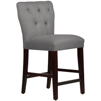 Evelina 26 Bar Stool Upholstery: Linen Grey