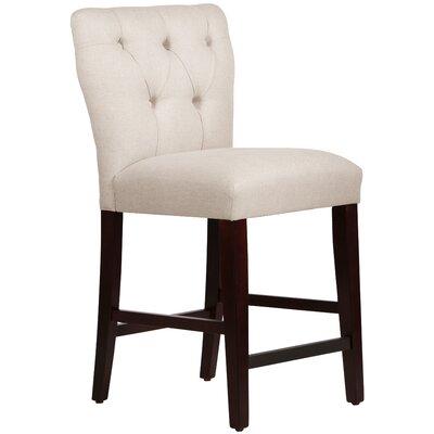 Evelina 26 Bar Stool Upholstery: Linen Talc