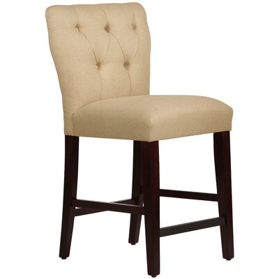 Evelina 26 Bar Stool Upholstery: Linen Sandstone