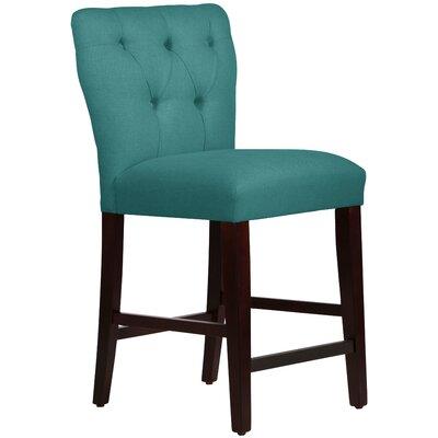 Evelina 26 Bar Stool Upholstery: Linen Laguna