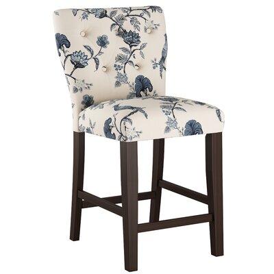 Evelina 26 Bar Stool Upholstery: Shaana Indigo