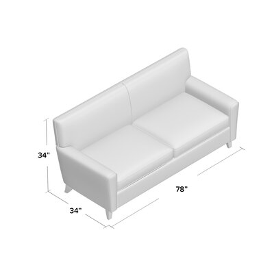 Grayson Sofa Body Fabric: Draft Ivory