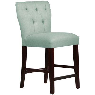 Evelina 26 Bar Stool Upholstery: Linen Swedish Blue