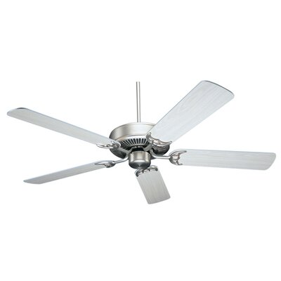 52 Masterbuilder 5 Blades Ceiling Fan Finish: Pewter