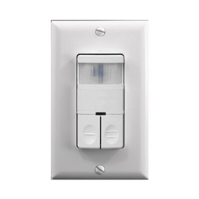 Dual Relay Wall Switch Occupancy Sensor Finish: Ivory Image