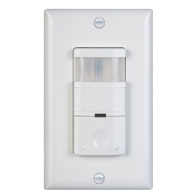 Decor 180D Occupancy Vaccancy Sensor Finish: White Image