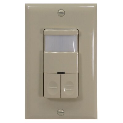 Dual Relay Wall Switch Occupancy Sensor Finish: Ivory