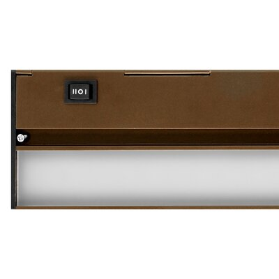 LED Under Cabinet Bar Light Finish: Oil Rubbed Bronze, Size: 1.13 H x 12 W x 3.5 D