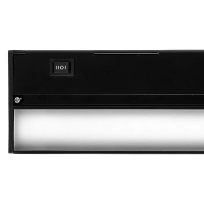 LED Under Cabinet Bar Light Finish: Black, Size: 1.13 H x 12 W x 3.5 D