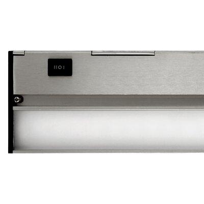 Hardwired Hi/Low/Off  Slim LED 12.5 Under Cabinet Bar Light Finish: Nickel