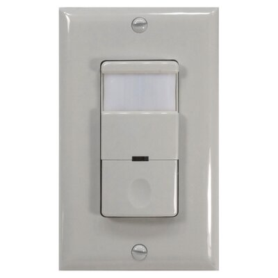 Decor 180D Occupancy Vaccancy Sensor Finish: White