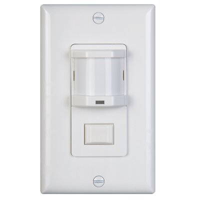 Infrared Occupancy Sensor Wall Sensor Finish: White