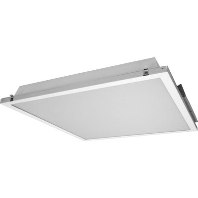 Contractor Friendly Troffer LED Semi Flush Mount in 5000K with Emergency Backup