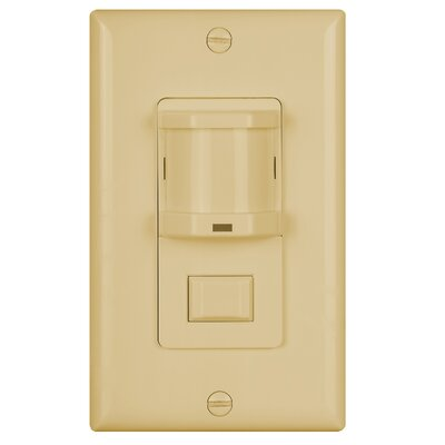 Infrared Occupancy Sensor Wall Sensor Finish: Ivory