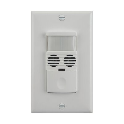 180D Dual Technology Occupancy Sensor Finish: White