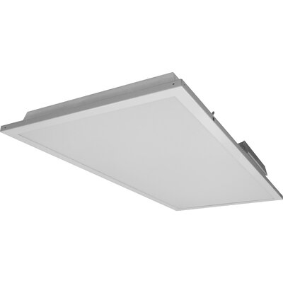 Contractor Friendly Troffer LED Semi Flush Mount in 3500K with Emergency Backup