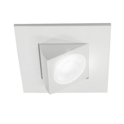 Square Eyeball LED Downlight Recessed Housing Finish: White