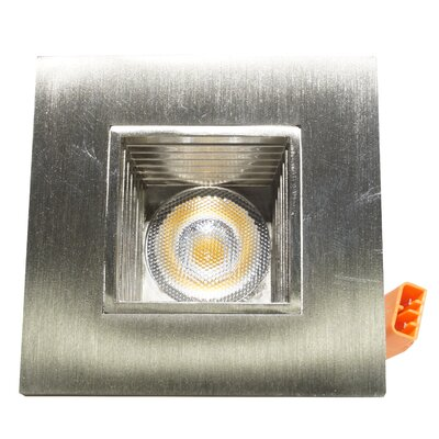 Square LED Downlight Recessed Housing Finish: Nickel