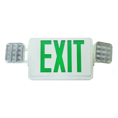 LED Emergency Exit Sign Color: Green