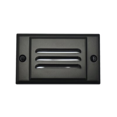 Horizontal Faceplate LED Step Light Color: Black