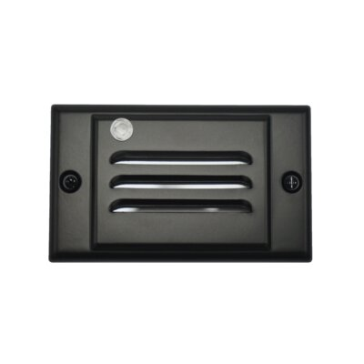 Horizontal Faceplate LED Step Light Socket Plate Color: Black